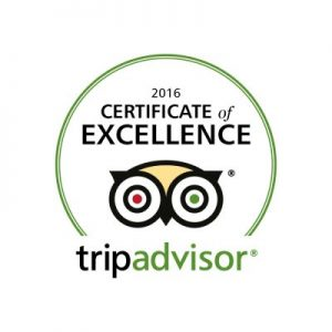 Trip Advisor – Certificate of Excellence 2016
